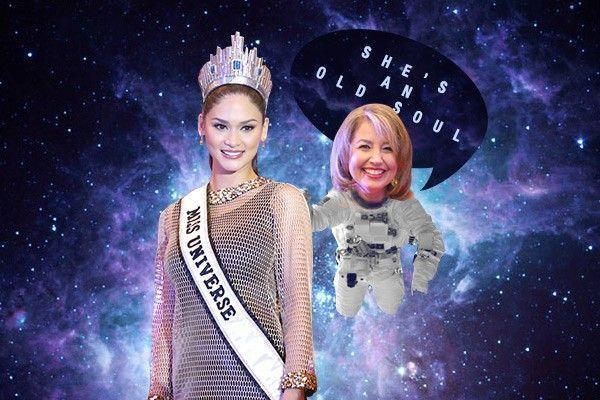 """Paula Shugart - chủ tịch ban tổ chức Hoa hậu Hoàn vũ thế giới miêu tả Pia là """"người có tâm hồn già trước tuổi""""."""