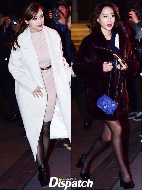 yumi và Han Ye Won - hai cựu thành viên cùng nhóm nhạc Sugar với Hwang Jung Eum