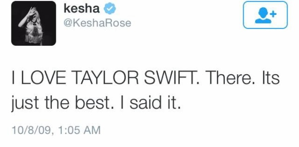 Kesha cũng không 'ngần ngại' thể hiện tình cảm của mình với giọng ca  Blank Space trên trang cá nhân.