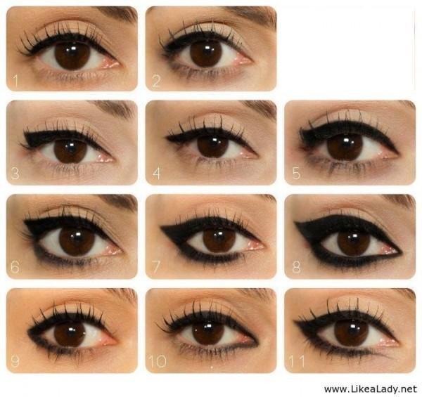 Một số kiểu kẻ mắt thông dụng khác.