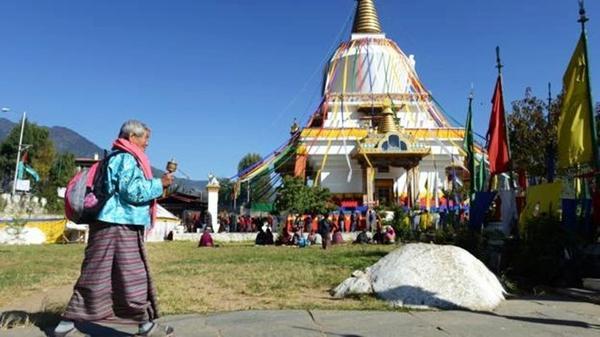Memorial Chorten Monastery in Thimphu. (Credit: Prakash Mathema/AFP/Getty)