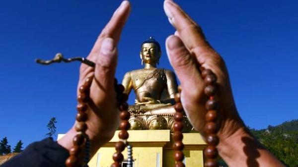 Buddha Dordenma statue in Thimphu. (Credit: Prakesh Mathema/AFP/Getty)