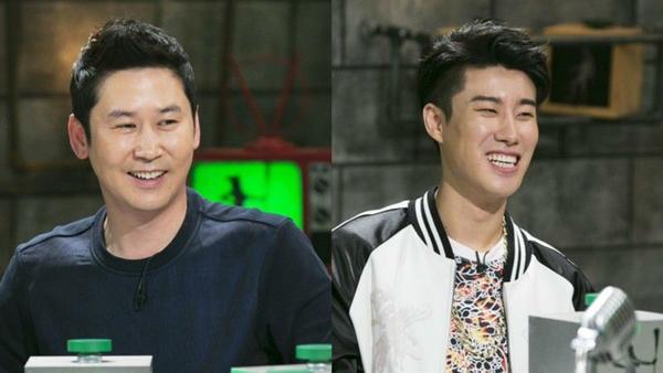Shin Dong Yup cùng rapper San E là MC chương trình.