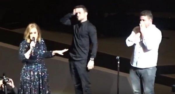 Cả hai đều không thể tin nối trước mặt họ là nữ diva 25 tuổi - Adele