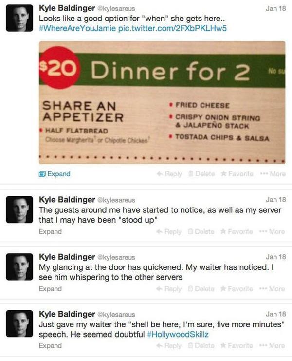 Cập nhật tình hình nhiệm vụ của Baldinger với cú lừa ngoạn mục để ăn miễn phí ở nhà hàng.