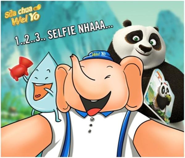 123 selfie cùng Kungfu Panda nha!