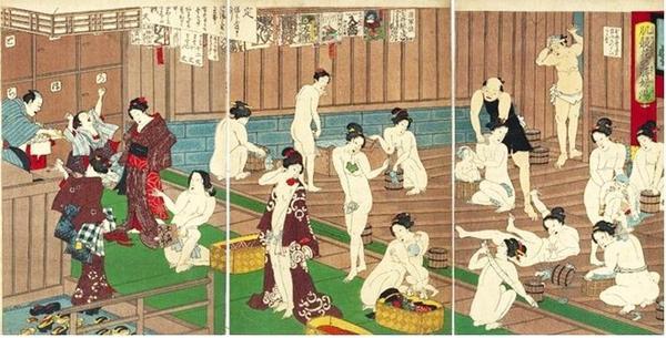 Phòng tắm công cộng đã trở thành nét văn hoá truyền thống ở xứ sở hoa anh đào.