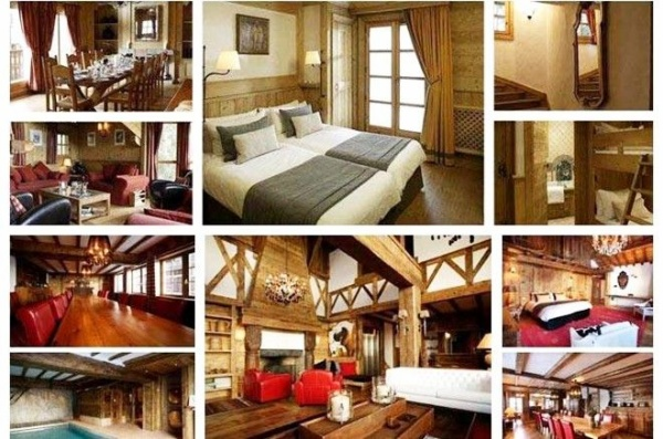 Bên trong những căn biệt thự gỗ dành cho giới thượng lưu nghỉ dưỡng và trượt tuyết.