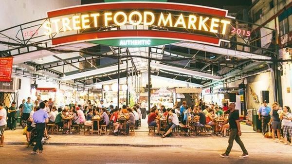 Không gian từ bên ngoài nhìn của Street Food Market.