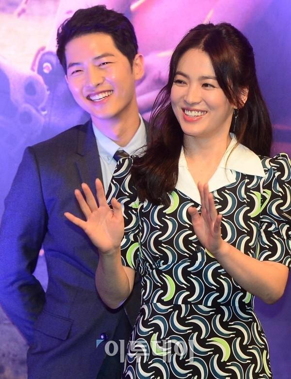 Song Hye Kyo và Song Joong Ki trong buổi ra mắt phim.