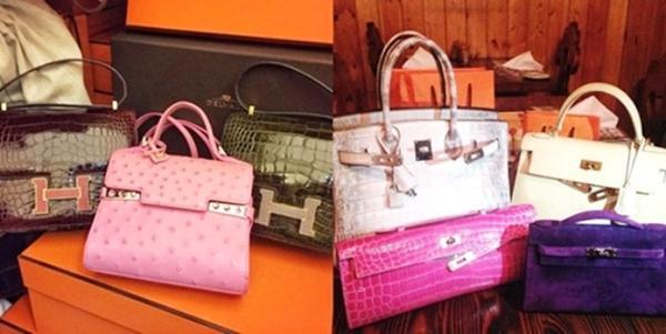 Những chiếc túi xách đắt tiền của Chryseis Tan.