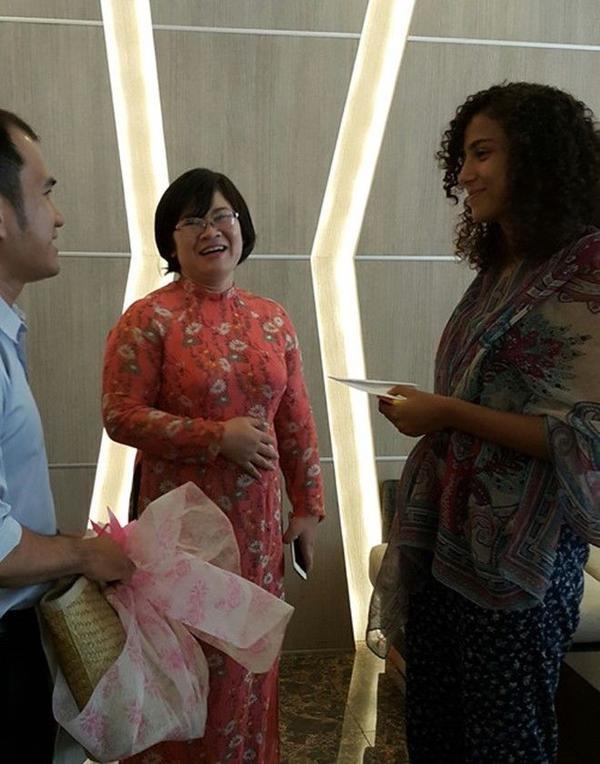 Tiếp xúc với bà Võ Thị Bạch Tuyết, giám đốc sở du lịch TP HCM