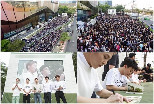 Buổi ký tặng fan Thái của EXO thu hút tới 50.000 người.