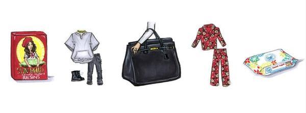 Người đẹp siêu vòng 3 khoe đồ dùng bên trong túi hiệu.