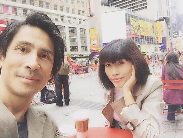 Hình ảnh cặp đôi đi chơi tại Mỹ tháng 6.2015