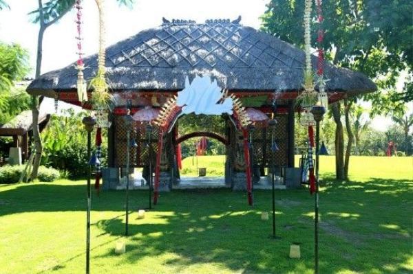 Khung cảnh nơi tổ chức tiệc cưới của Ngô - Lưu. Đám cưới của họ sẽ diễn ra vào chiều nay (20/3) tại resort Ayana, đảo Bali (Indonesia).