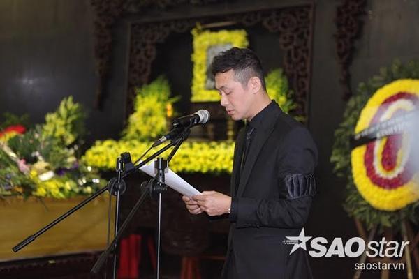 MC Anh Tuấn trong phần đọc điếu văn.