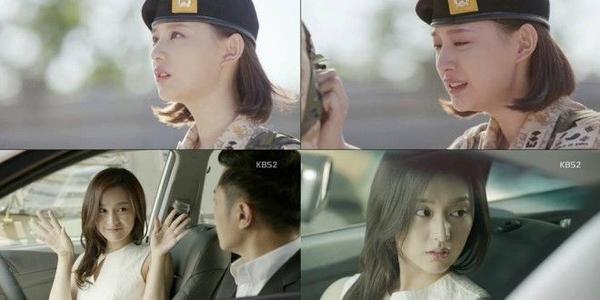 Dù hơn 80% vai của cô ấy toàn mặc quân phục và để tóc ngắn, nhưng có những cảnh quay khi rời quân ngủ thế này với mái tóc dài hờ hững ngang lưng mới thực sự giúp Kim Ji Won ghi điểm trong lòng khán giả.
