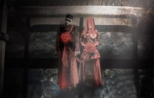 """""""Đám cưới ma"""" trở thành hủ tục của Trung Quốc.  (Ảnh: mysteriousuniverse)"""