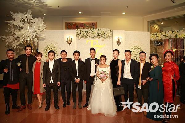 Tóc Tiên, Hoàng Touliver, Cường Seven đến chúc mừng cô bạn thân Nhật Thu.