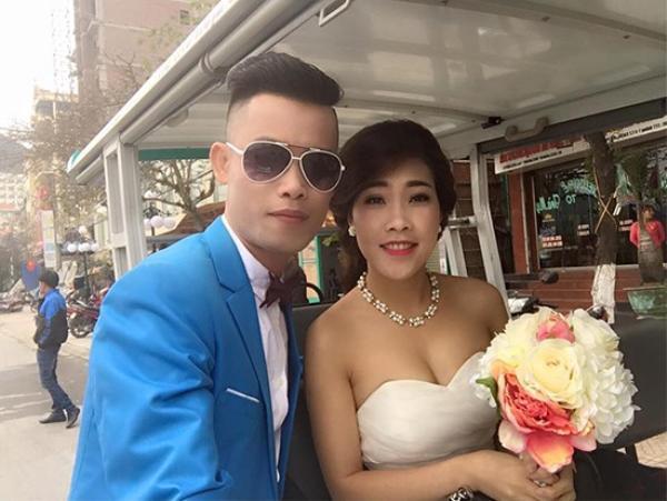 Hiệp Gà và vợ sắp cưới Diệu Thúy đang đi chụp ảnh cưới ở Cát Bà - Hải Phòng.