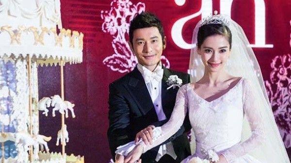 Angela Baby và Huỳnh Hiểu Minh.
