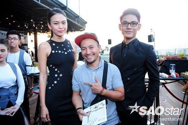 Tiến Đạt xuất hiện cùng Mâu Thủy và Sơn Ngọc Minh trong họp báo ra mắt album mới của ca sĩ Pha Lê.
