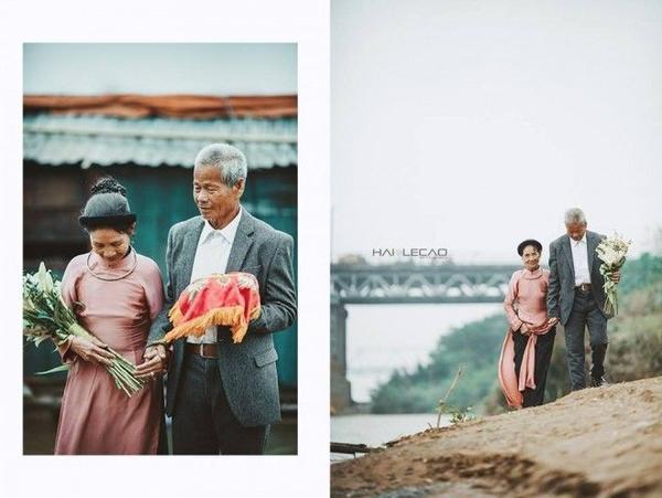 Đám cưới giản dị được tổ chức, thỏa ước nguyện của hai ông bà