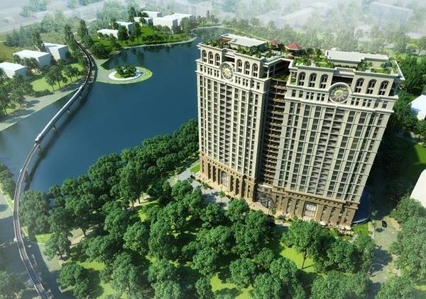 Phối cảnh dự án căn hộ cao cấp giữa trung tâm Hà Nội của tập đoàn Tân Hoàng Minh
