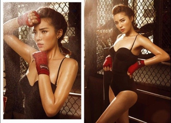 Hoa hậu Kỳ Duyên bật cú đẩy thoát khỏi hình ảnh trong sáng bằng một bộ ảnh khá nóng bỏng cùng tay trang điểm Quân Nguyễn.