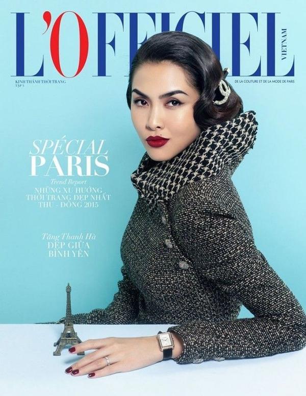 Hà Tăng như hóa nàng Mona lisa trong ấn phẩm của tạp chí L'Officiel.
