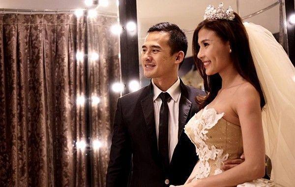 Lương Thế Thành và Thúy Diễm đi thử váy cưới chuẩn bị cho hôn lễ.