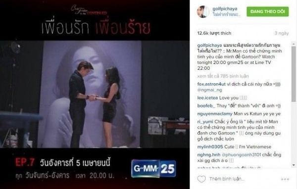 Thậm chí cập nhật diễn biến của phim cho fan Việt.