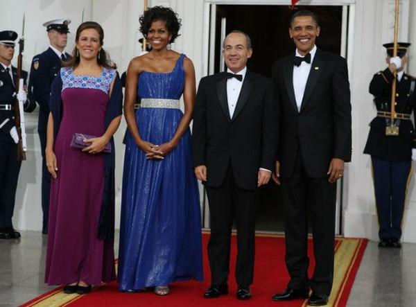 Vào ngày 19/5/2010, nhân chuyến công du của Tổng thống nước láng giềng Mexio Filipe Calderon và phu nhân, Đệ nhất phu nhân Michelle Obama đã đứng ra tổ chức một buổi quốc yến