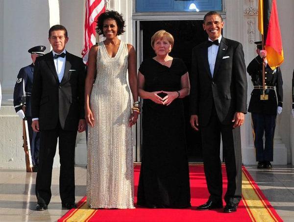 Cũng trong năm này, Tổng thống Obama và phu nhân một lần nữa tổ chức quốc yến chiêu đãi Thủ tướng Đức Angela Merkel khi bà đến Mỹ.