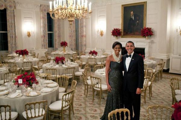 Quốc yến là một trong những truyền thống đặc biệt của Nhà Trắng nhằm để chỉ những bữa tiệc do các Tổng thống Mỹ tổ chức với mục đích chiêu đãi các nguyên thủ quốc gia. Trong nhiệm kỳ của mình, vợ chồng Tổng thống Obama đã có không ít lần tổ chức những buổi quốc yến