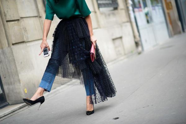 heels jeans skirt street style 660x440 - Các nàng ơi, đã 'tậu' những mẫu giày này vào tủ đồ của mình chưa?