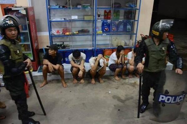 Một số học viên cai nghiện đã bị công an bắt giữ.