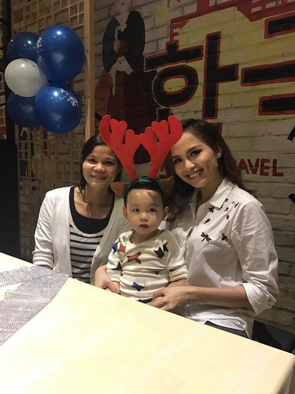 Một chú tuần lộc dễ thương khác chính là bé Noah - con trai Diễm Hương.