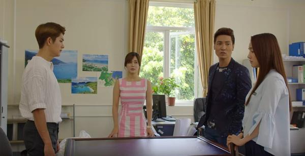 Cuộc đối thoại căng thẳng giữa Junsu, Linh với Cynthia và Phong.