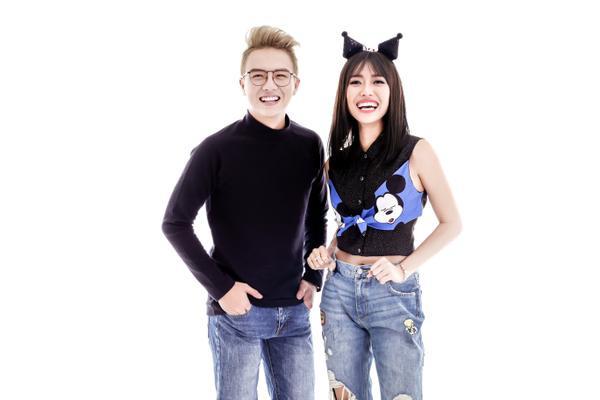 Huỳnh Diệu Nhi - Duy Khánh 'tạo nét' tinh nghịch với jean - ảnh 2