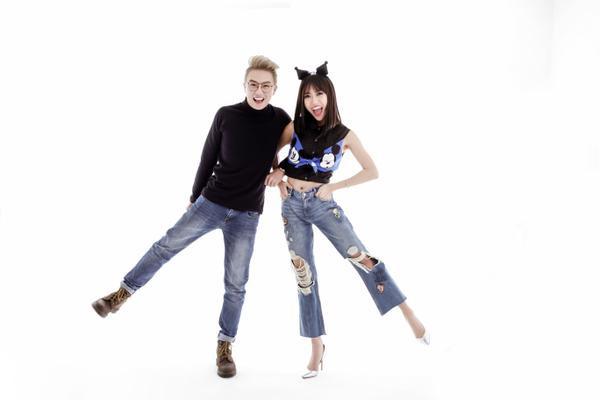 Huỳnh Diệu Nhi - Duy Khánh 'tạo nét' tinh nghịch với jean - ảnh 3