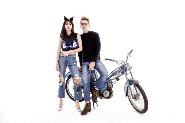 Huỳnh Diệu Nhi - Duy Khánh 'tạo nét' tinh nghịch với jean - ảnh 8