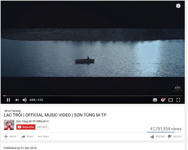 Thật không thể tin! 'Lạc trôi' - Sơn Tùng đã vượt qua hàng loạt MV khủng Kpop, US-UK
