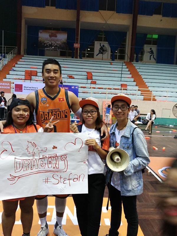 Stephan Nguyễn từng là cầu thủ chủ chốt của Danang Dragons tại giải nhà nghề VBA 2016