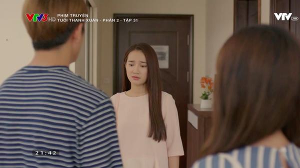 Ở tập 30 và 31, Linh đã vô cùng bàng hoàng khi chứng kiến cảnh Cynthia về nhà Junsu ngủ qua đêm. Dù Junsu cố gắng xin lỗi và giải thích nhưng điều này chắc hẳn không khiến Linh nguôi ngoai cảm xúc buồn bã, thất vọng. Là một cô gái luôn nhẫn nhịn vì người khác, Linh có thể bỏ qua nhưng sự đau buồn có lẽ chỉ cô là phải chịu đựng.