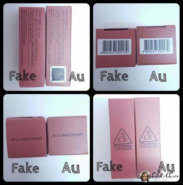 Cảnh báo: Son 3CE đang nhan nhản hàng fake, chị em đã biết cách phân biệt chưa?