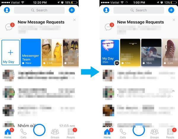 Người dùng thất vọng vì 'Facebook Messenger Day' còn thua cả 'Khoảnh Khắc' của Zalo