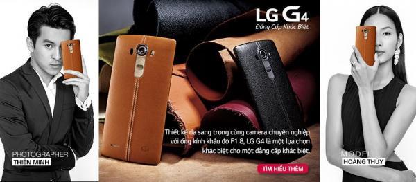 Xuất hiện cùng Thiên Minh trong quảng cáo điện thoại của LG.