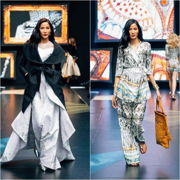 Hoàng Thùy trở thành người mẫu châu Á duy nhất được mở màn cho những show diễn thuộc sự kiện Pure London 2016.